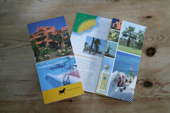 A leaflet about Spanish property